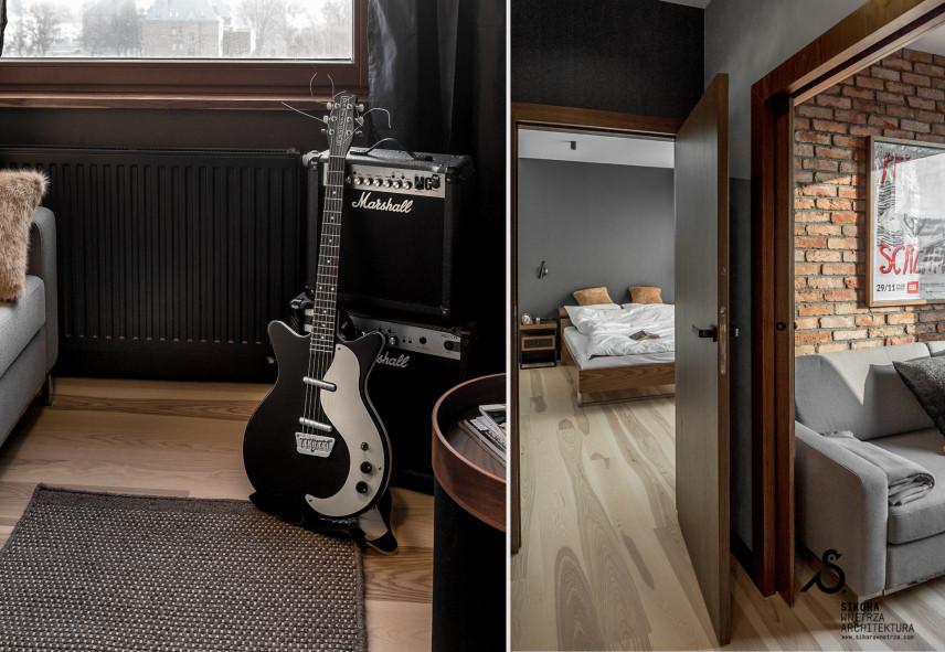 Sypialnia z pokojem dziennym