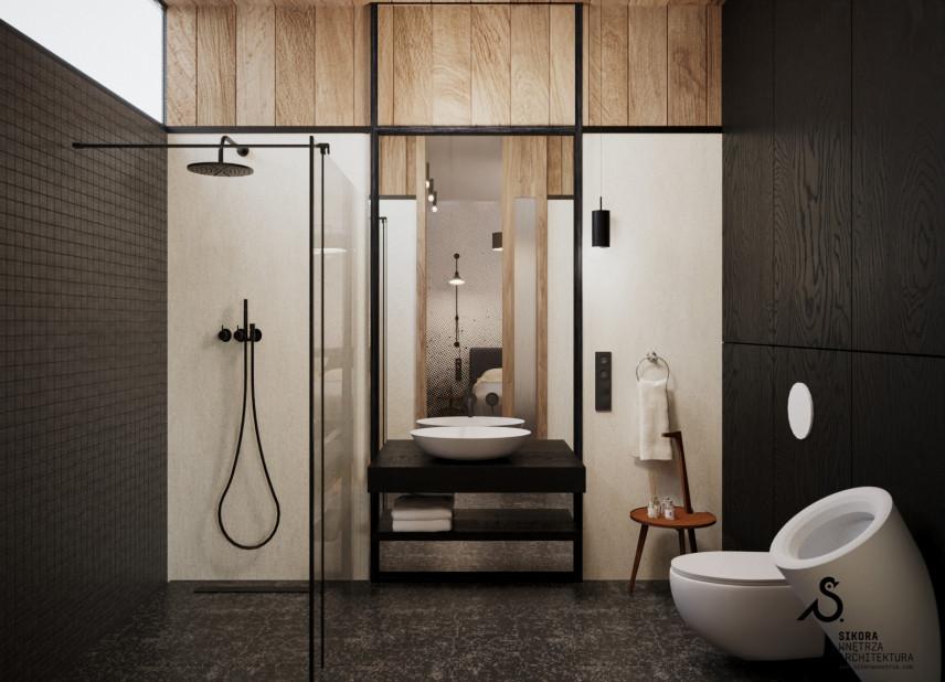 Nowoczesna łazienka w stylu scandi