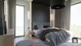 Sypialnia w stylu loft