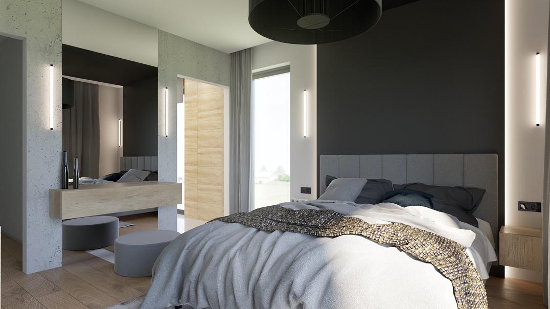 Aranżacja sypialni z łóżkiem kontynentalnym