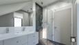 Aranżacja łazienki ze skosem