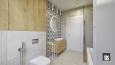 Aranżacja łazienki z szarymi dużymi płytkami