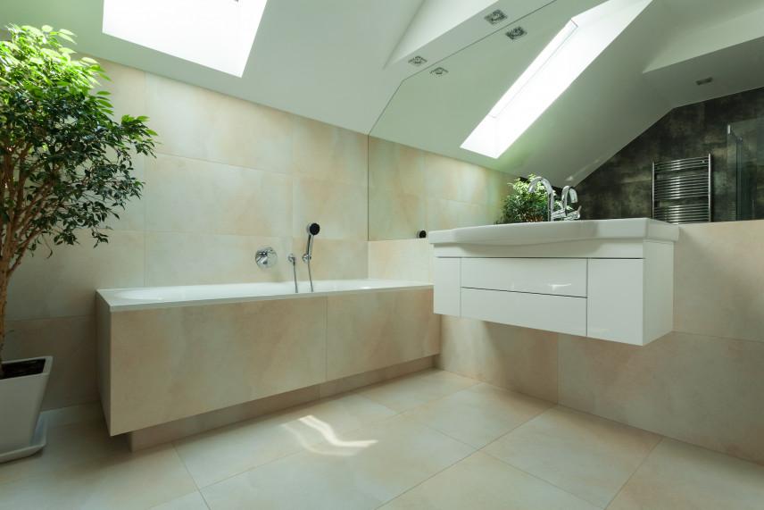 Nowoczesna łazienka z prostokątna wanną