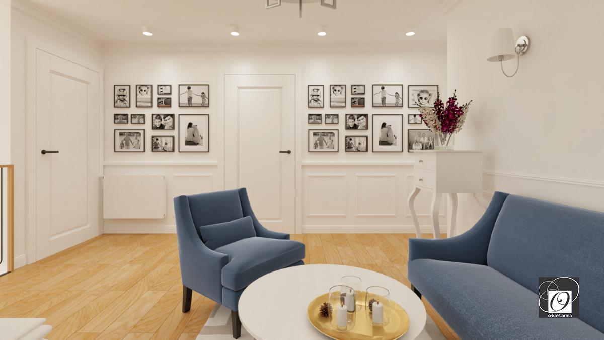 Aranżacja salonu z obrazami na ścianie