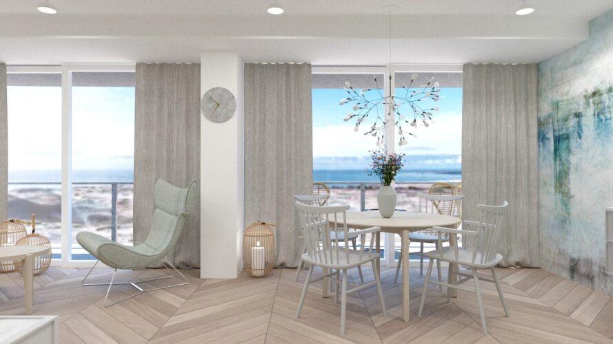Aranżacja apartamentu z jadalnią i salonem
