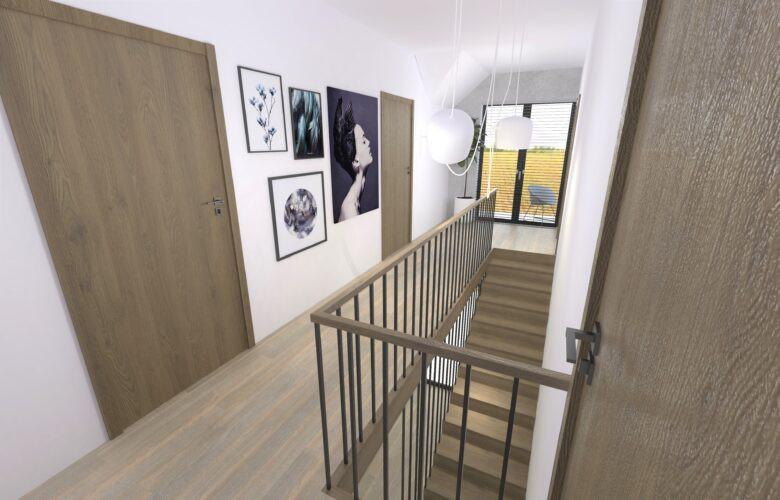 Aranżacja korytarza na piętrze