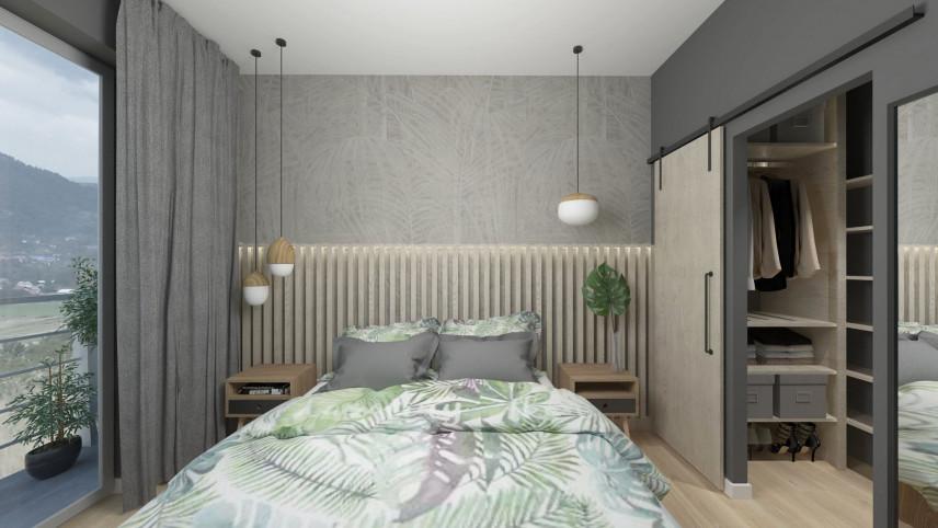 Aranżacja sypialni z lampami wiszącymi nad łóżkiem