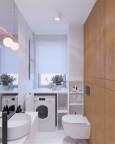Łazienka z pralką w zabudowie