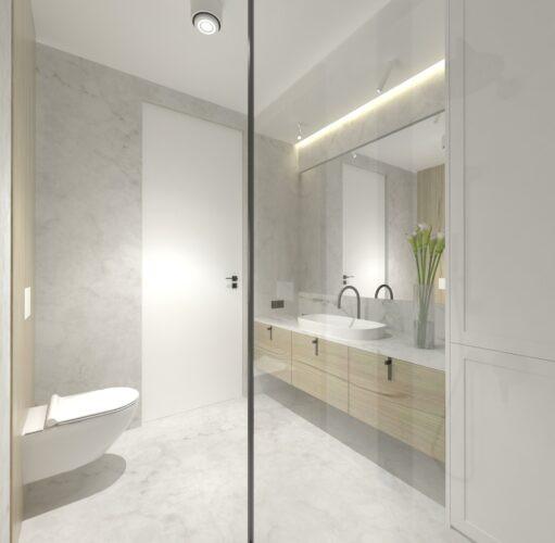 Łazienka w apartamencie z prysznicem