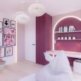 Pokój nastolatki z designerskimi lampami