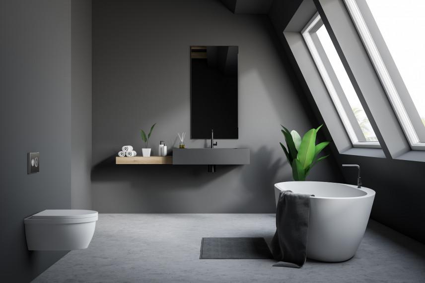 Nowoczesna łazienka w kolorze szarym
