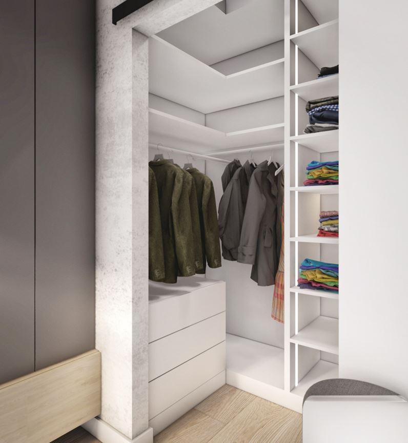 Mieszkanie w Krakowie z garderobą w sypialni