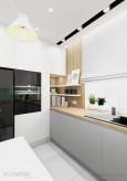 Kuchnia w biało-szarej zabudowie