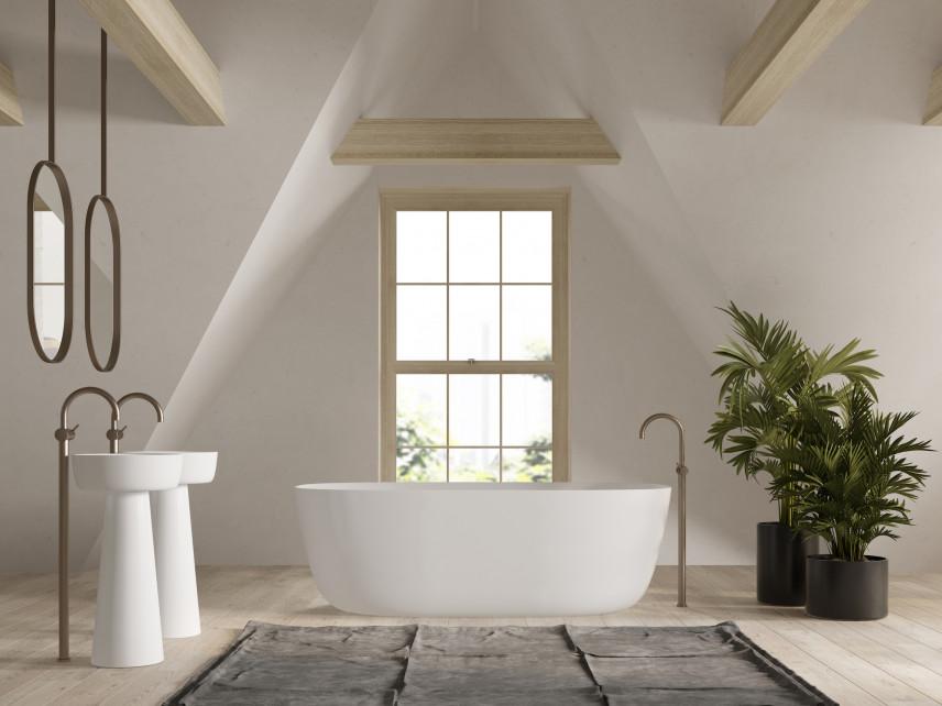 Duża, nowoczesna i stylowa łazienka