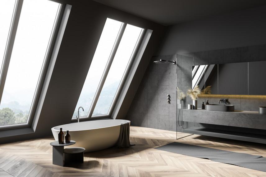 Nowoczesna, stylowa łazienka