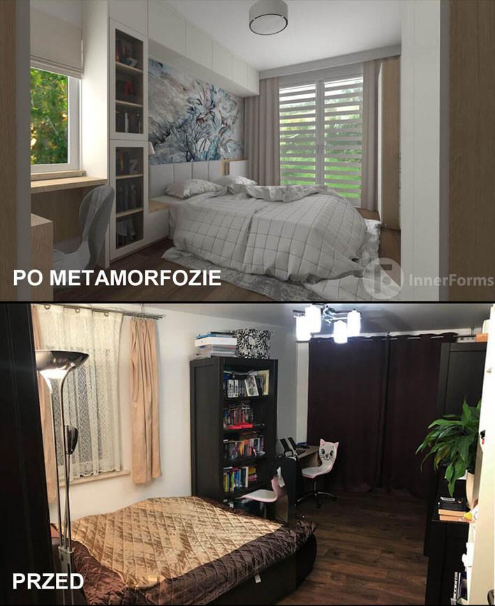 Zestawienie metamorfozy sypialni