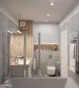 Aranżacja łazienki z wanną z funkcją prysznicu