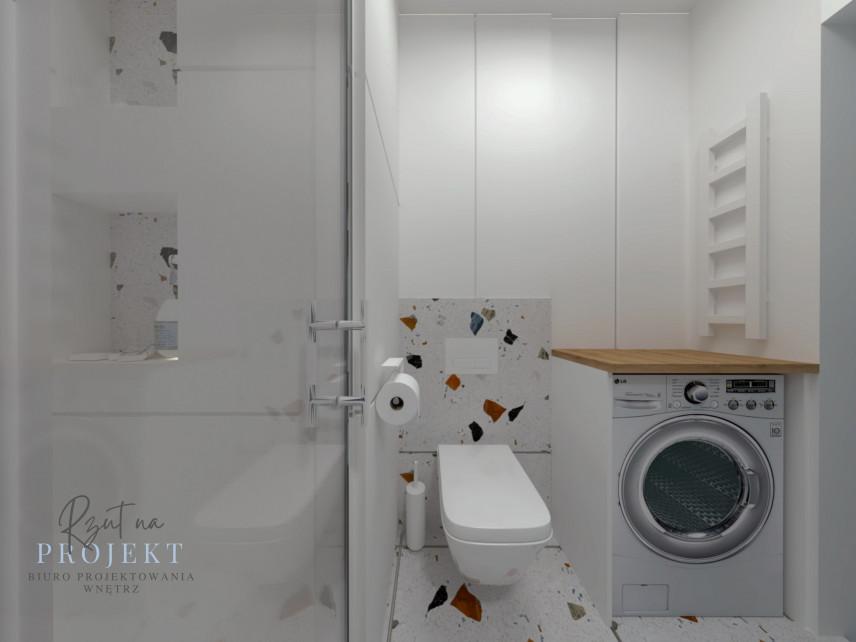 Łazienka z pralką wolnostojąca