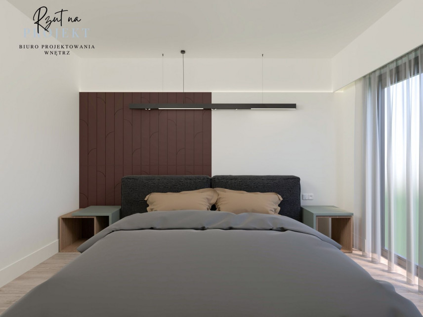 Stonowane kolory w sypialni