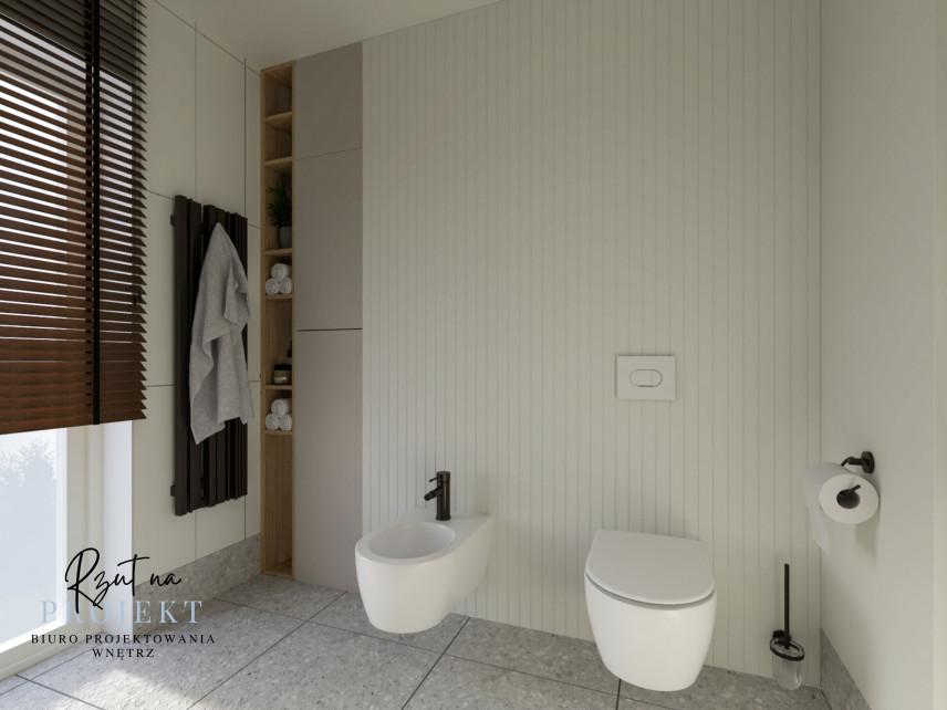 Nowoczesna toaleta z bidetem i muszlą wiszącą