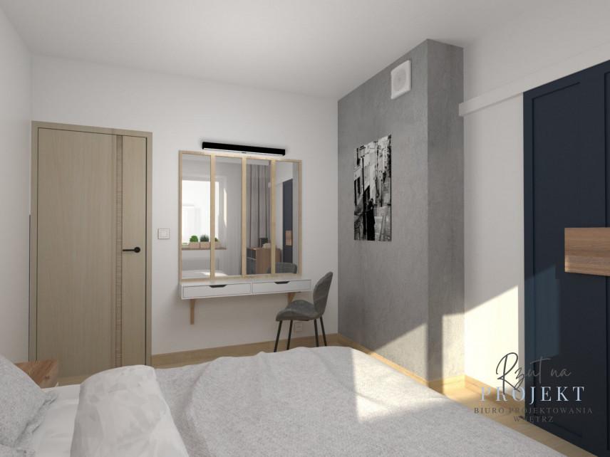 Sypialnia w stonowanych kolorach