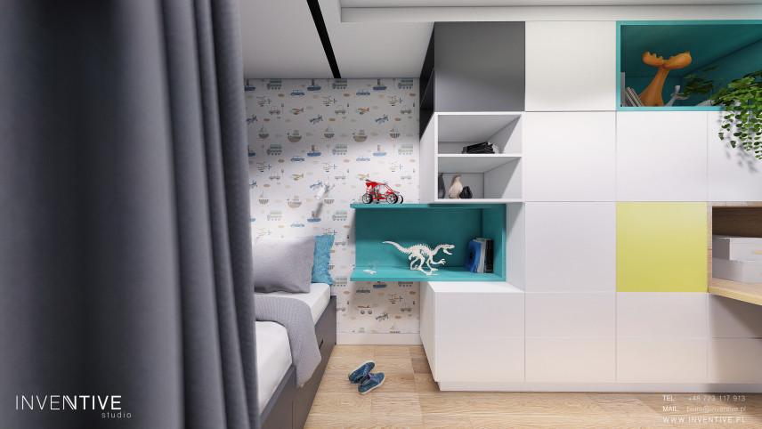 Pokój małego chłopca z meblami