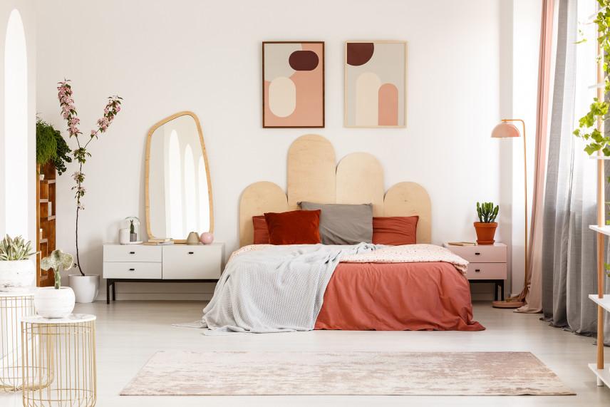Sypialnia w kolorze beżowym