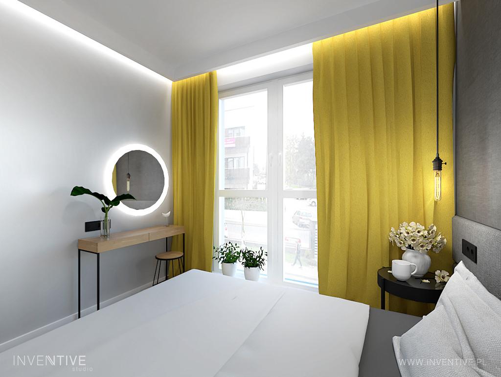 Sypialnia w stylu klasycznym z łóżkiem kontynentalnym