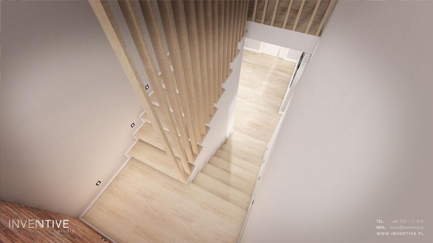 Aranżacja drewnianych schodów z podświetlaniem Led