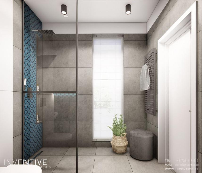 Projekt nowoczesnej łazienki z prysznicem typu walk - in