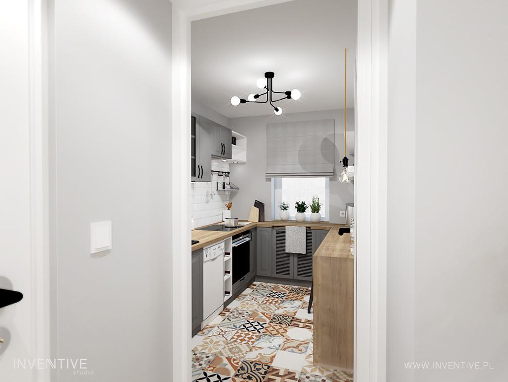 Wydzielona kuchnia w mieszkaniu