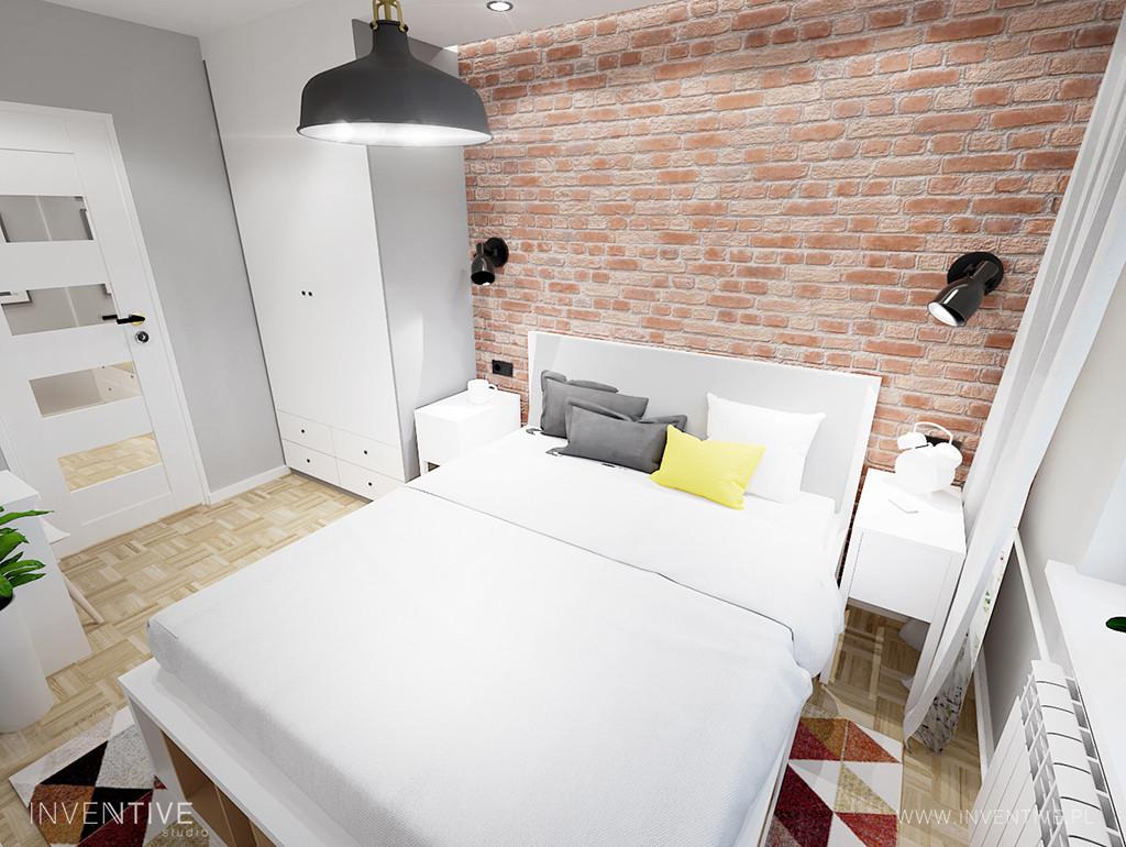 Aranżacja małej sypialni w stylu retro