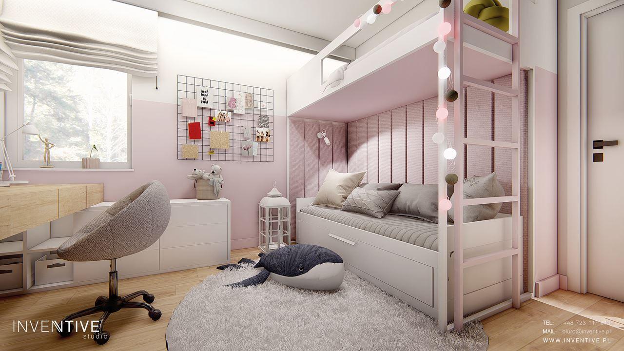 Pokój nastolatek z łóżkiem piętrowym