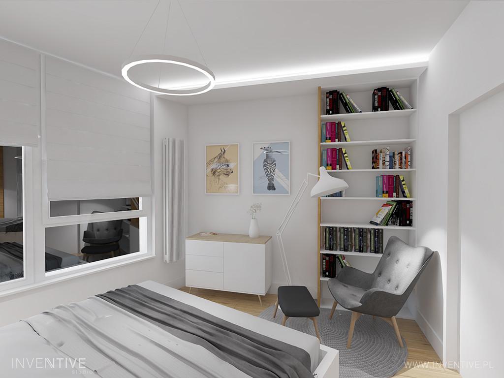 Projekt sypialni w minimalnym stylu