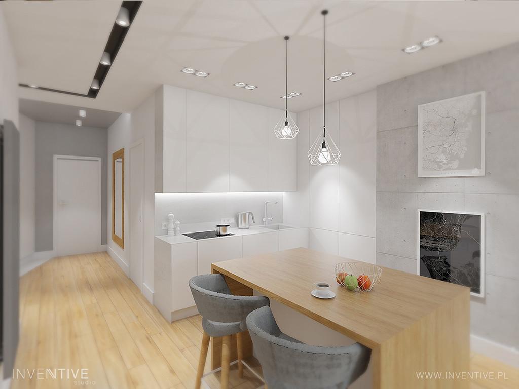 Kuchnia otwarta w bieli