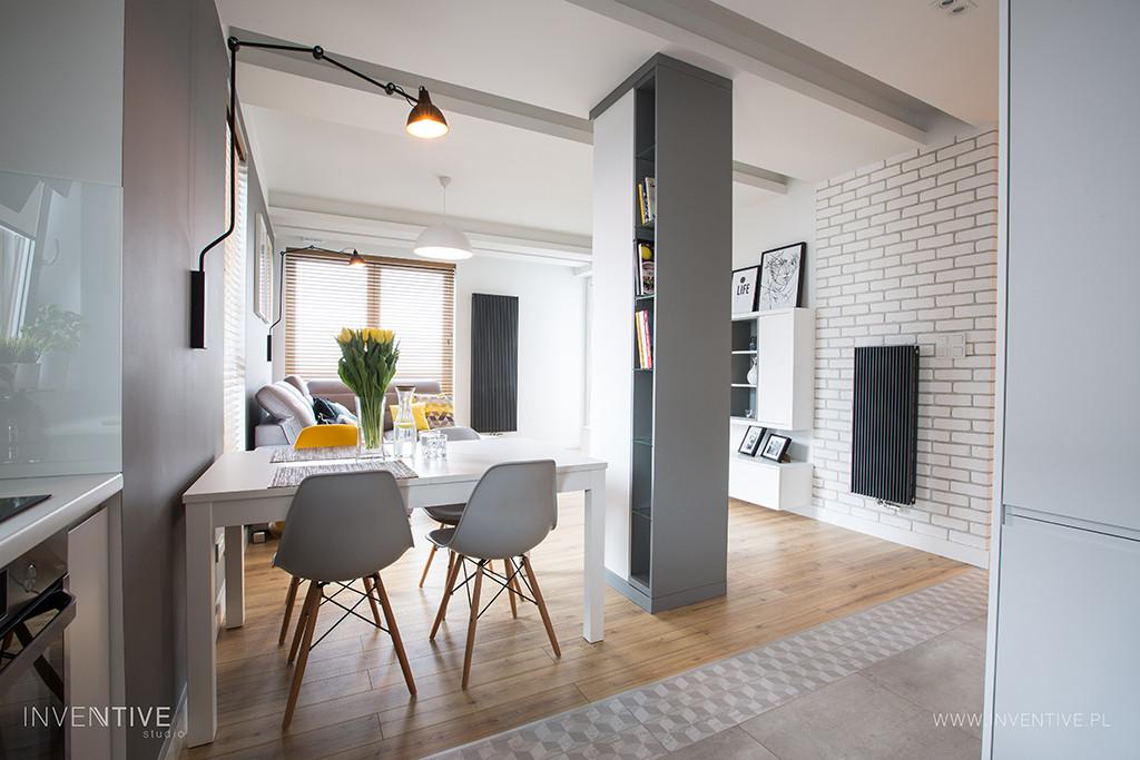 Salon w stylu nowoczesnym i skandynawskim