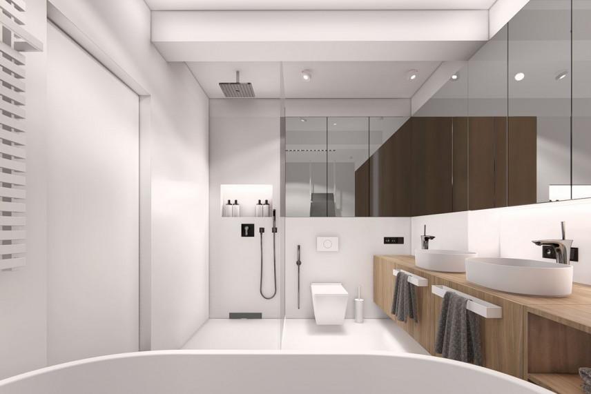 Projekt przestrzennej łazienki