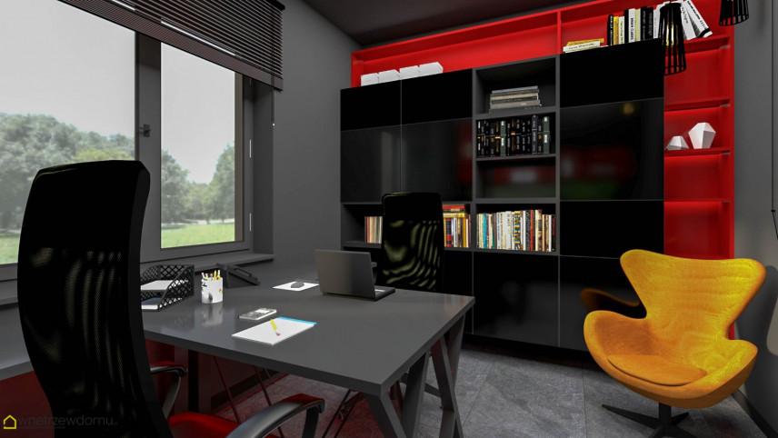 Nowoczesne biuro z meblami