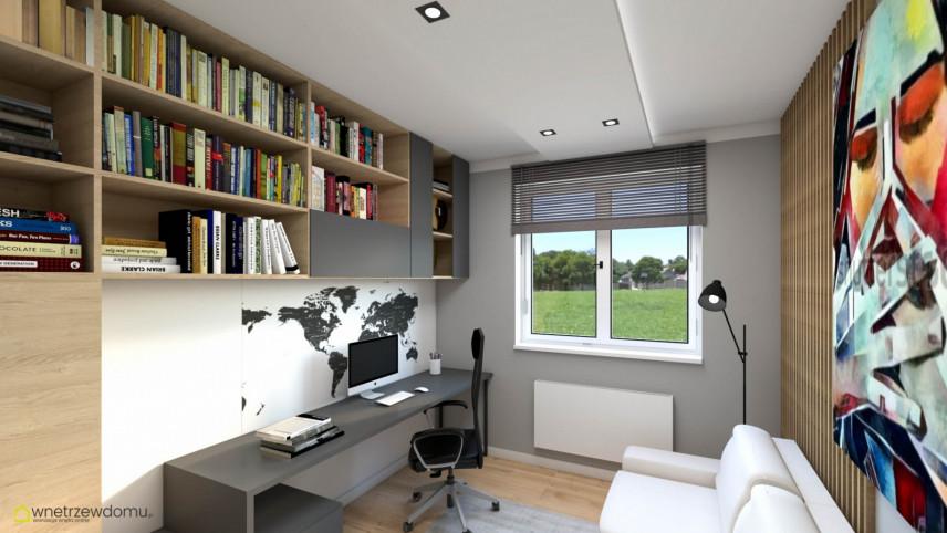 Pokój w domu z miejscem do pracy