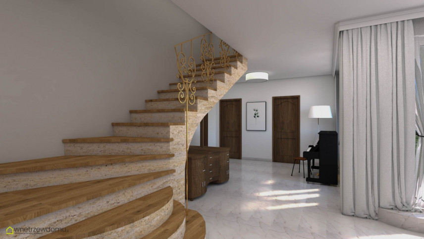 Aranżacja schodów z marmuru