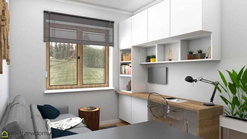 Biuro w domu w stylu skandynawskim