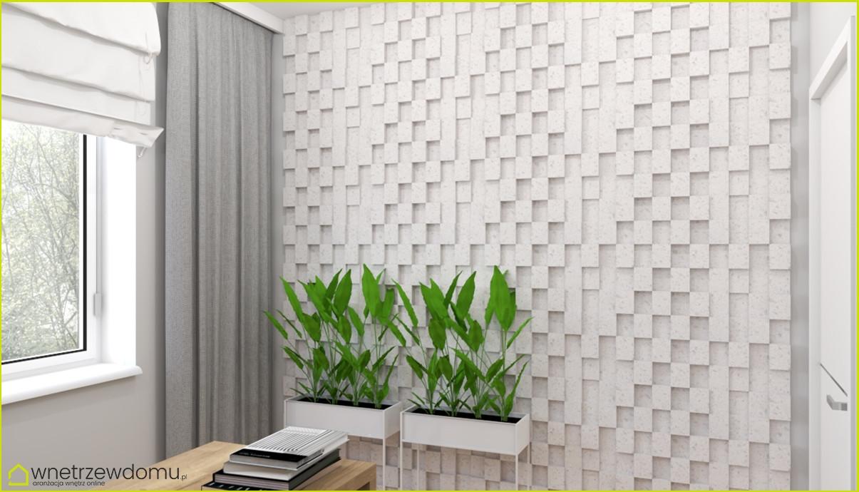 Designerska ściana ze wzorem 3d