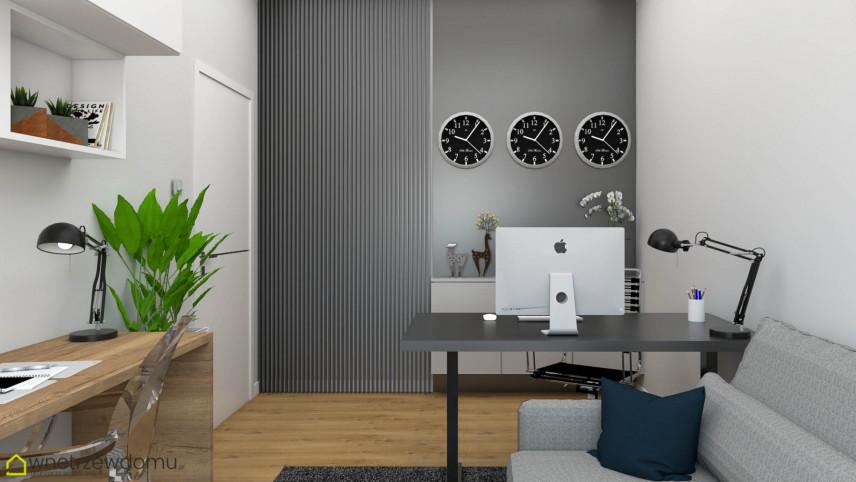 Biuro w domu z dwoma biurkami