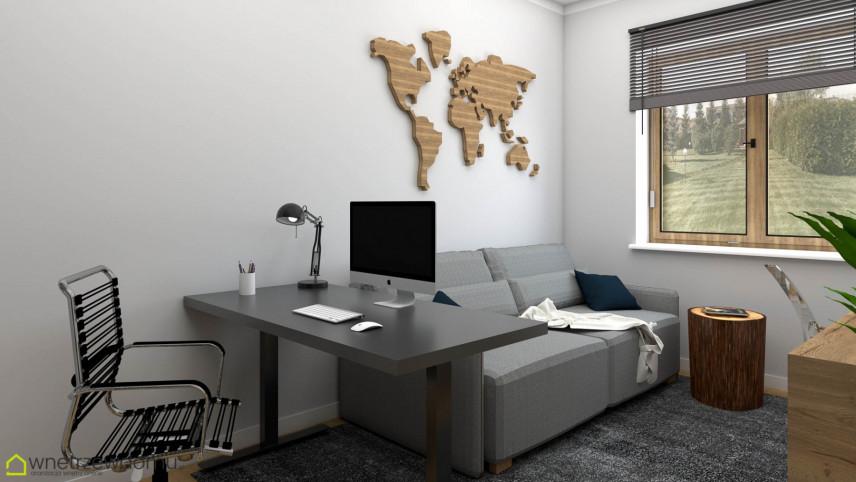 Biuro z designerskim krzesłem obrotowym