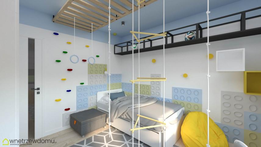Pokój dziecięcy ze ścianką wspinaczkową