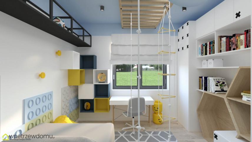 Nowoczesny pokój dziecięcy z designerskimi półkami