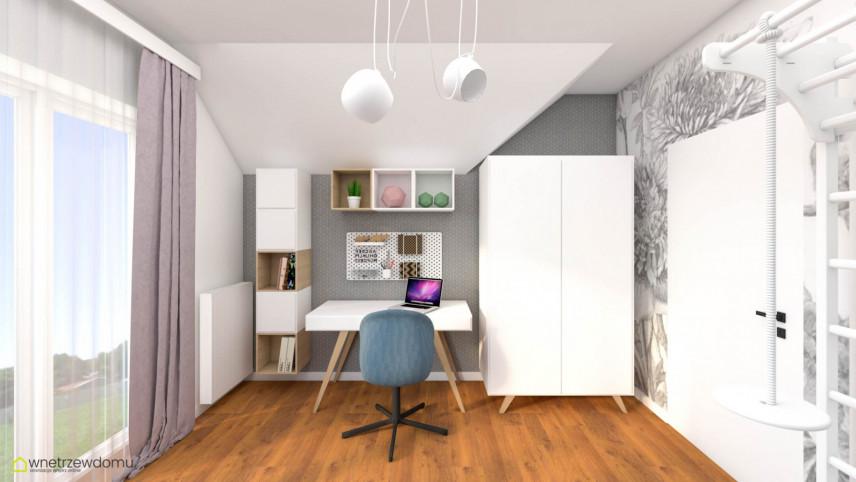 Pokój nastolatki z biurkiem