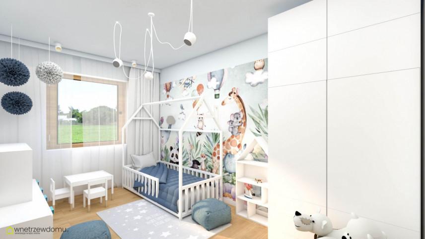 Aranżacja pokoju dziecięcego z tapetą na ścianie