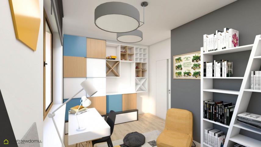 Pokój z białym biurkiem