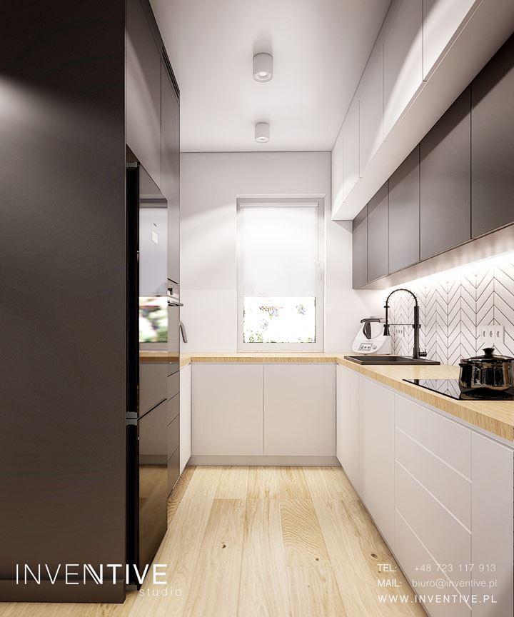 Wąska kuchnia w dużym mieszkaniu